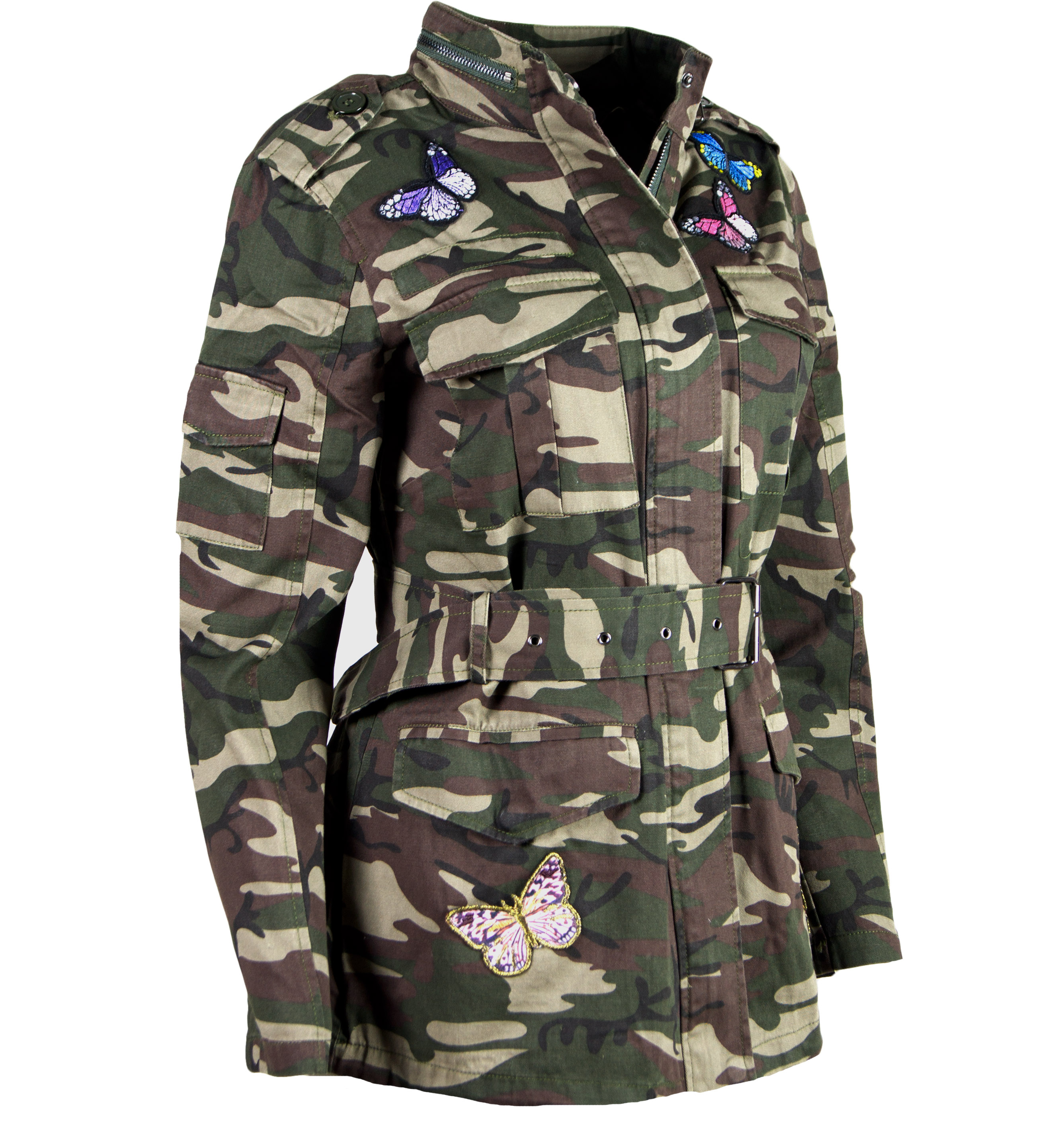 damen camouflage jacke parka patches milit r. Black Bedroom Furniture Sets. Home Design Ideas